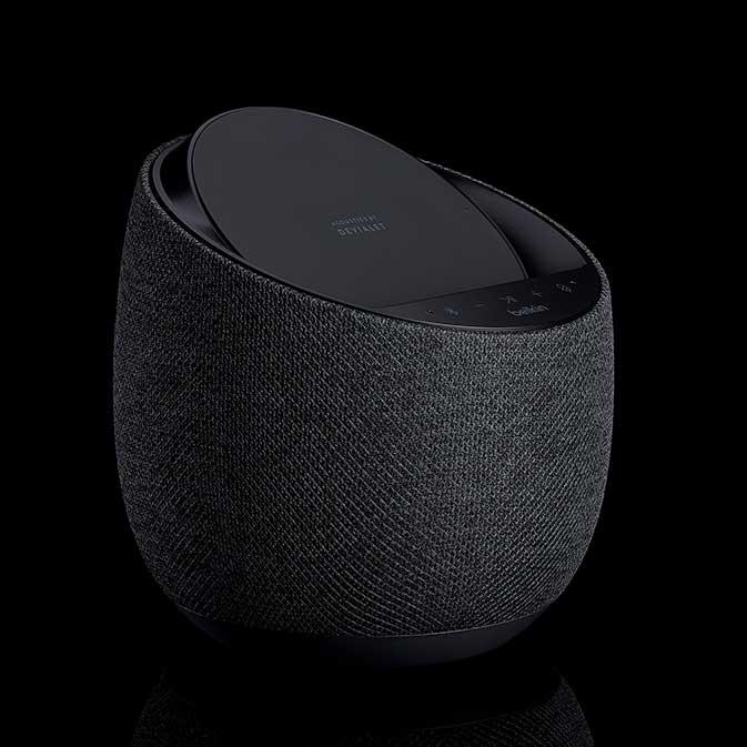 Belkin G1S0001 Soundform Elite Smart Speaker image, black, three-quarter view
