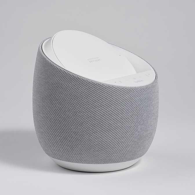 Belkin G1S0001 Soundform Elite Smart Speaker image, white, three-quarter view